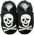 carozoo pirate black outdoor rubber sole leather shoes up to 4 years old
