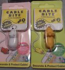 Animal Bite Cable Protector 1 Lion 1 Bear iPhone Lot of 2 NEW Ships from OHIO
