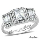 1.75 CT RADIANT CUT CZ STAINLESS STEEL ENGAGEMENT BRIDAL RING WOMEN'S SIZE 5-10