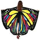 Soft Fabric Butterfly Wings Shawl Fairy Women Nymph Pixie Costume Accessories
