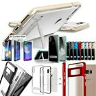Glass Screen Protector/Clear Bumper Hybrid Kickstand Case For Apple Smartphones