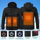 Hot Men Women Electric Heating Vest USB Hooded Heated Coat Jacket Temp
