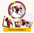 Disney Pixar THE INCREDIBLES 2 Birthday Party Tableware Supplies Decorations(1C)