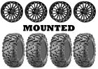 Kit 4 Maxxis Bighorn 2.0 Tires 28x10-12 on ITP SD Beadlock Matte Black H700