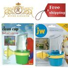 Feeder And Water Cup With Clear Plastic Guard For Bird Accessory Fits All Cages