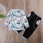 Toddler Kids Baby Boys Girls Long Sleeve Tops+Pants Clothes Outfit Set 1-5T K-5