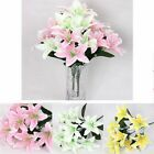Home Accessories Wedding Decor Fake Lily Artificial Flowers Lilies Bouquet