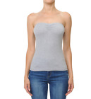 Womans  BASIC Stretch PLAIN  TUBE TOP Seamless Sleeveless Tee