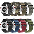 For iWatch AppleWatch Series 4 44mm Watch Band Woven Nylon Sport Strap Bands