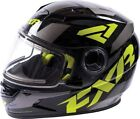 FXR Nitro Core Youth Snowmobile Helmet Black/Hi-Vis/Charcoal Gray