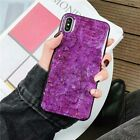 Marble Shining Soft Silicone Epoxy  Emerald Gold Foil Case Cover For iPone XS XR