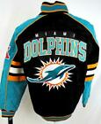 Miami Dolphins Mens Small or Medium Full Zip Soft Suede Leather Jacket ADOL 168 on eBay
