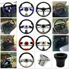 CUSTOM GOLF CART STEERING WHEEL W/ ADAPTER CLUB CAR EZGO YAMAHA DS TXT DRIVE