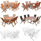 5/7 Piece Outdoor Dining Set Wood Table Chair Foldable Backyard Garden Furniture