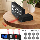 LED Radio Projection Clock FM Radio Creative Fashion Alarm Clock Snooze Function