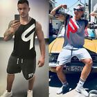 Men Gym Shirt Bodybuilding Sport Fitness Vest Muscle Tank Tops Summer Clothes
