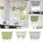 Ready Made Floral Printed Kitchen Tie Up Curtain Children's Room Curtains Pelmet