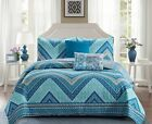 Madison Collection 5 Piece Beautiful Reversible Design Quilt Set image