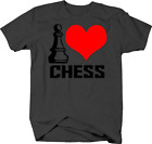 I Love Chess with Pawn for Board Gamers Puzzle and Logic Nerds Tshirt