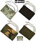 Kombat UK Mens Military Army Money Travel Wallet + Chain Camo Black Green DPM