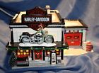 Really Cool Harely Davidson Christmas Snow Village shop that lights up