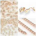 Rose Gold Plated Jewellery Making Findings Chain Jump Rings Clasps Uk Seller
