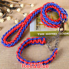 Adjustable Traction Training Collar Harness Rope Lead Strap Puppy Leash Pet Dog