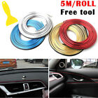 Hot Diy 5m Car Interior Dashboard Decoration Moulding Trim Strip Line Fashion Uk