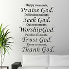 """Vinyl Home Room Decor """"praise God"""" Art Quote Wall Decal Sticker Removable Diy Us"""