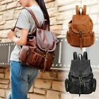 Women Girls Leather Backpack Shoulder School Satchel Vintage Travel Bag Rucksack image