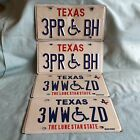 VINTAGE LICENSE PLATES TEXAS HANDICAP LOGO BIG RED LONE STAR STATE 3PR BH 3WW ZD
