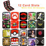 Nintendo Switch Game Cards Case Holder Super Mario Zelda Splatoon SD Card