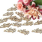 15pcs Vintage Rustic Style Wooden Table Stand Sign DIY Decoration Board W7A2