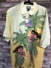 NWT Mens Tommy Bahama Retired Print Just Duet Button Down Custard M