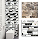 3D Waterproof Wall Sticker Mosaic Tile Wallpaper Bathroom Kitchen Home Decor CHZ