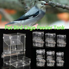 Clear Acrylic Pet Parrot Bird Finches Automatic Cage Feeder Single/Double Hopper