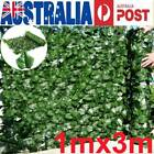 Hot 1*3m Artificial Ivy Leaf Fence Green Garden Yard Privacy Screen Hedge Plants