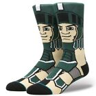 Michigan State Spartans Sparty Mascot Stance Socks Large 9-12 Men's NCAA College