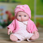 10'' Smart Delicate Reborn Doll Girl Baby Vinyl Silicone Pink Style Newbron Gift