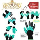 Garden Gloves W/ Fingertips Claws Waterproof And Puncture Resistant Genie...
