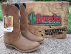 NEW Mens Authentic Laredo Tan Leather Western Work Cowboy Boots Style 28-2104