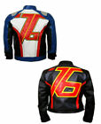 Soldier 76 Over Watch Gaming Faux Leather Jacket Costume Motorcycle Top  for Men