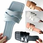 Womens Ladies Faux Leather Cushioned Footbed Insole Summer Toe Post Sandals New