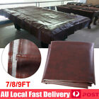 7'  8' 9' ft Foot Pool Snooker Billiard Table Cover Fitted Heavy Duty PU Leather $37.89 AUD on eBay