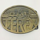 Vintage Terex Company Heavy Excavating Equipment Belt Buckle Advertising
