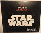 NEW 12 Days of Socks Star Wars Womens Shoe Size 4-10 Target Exclusive Sealed Box