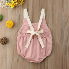 FixedPricetoddler infant kids girls baby bowknot backless romper bodysuit outfits clothes