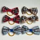 Puppy, Kitten, Dog, Cat Bows Hair Grooming Accessories Red Coffee Blue Tartan