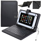 "For 9.7"" 10"" 10.1"" inch Tablet PU Leather Printed Stand Case Cover w/ Keyboard"