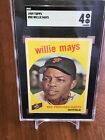 1959 Topps Willie Mays # 50 SGC 4 Very Good - Excellent HOF San Francisco Giants